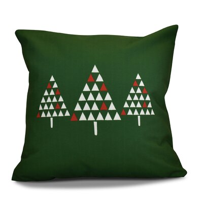 Christmas Trees Throw Pillow Size: 16