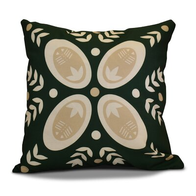 Mazee Decorative Holiday Geometric Print Throw Pillow Size: 18 H x 18 W, Color: Dark Green