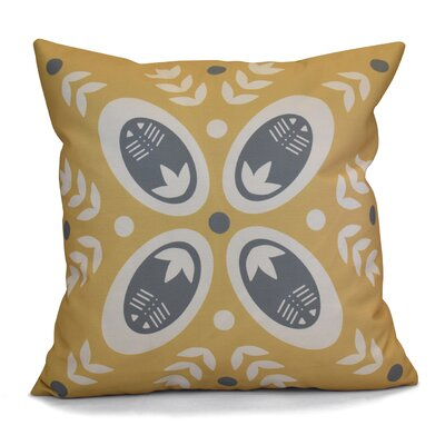 Mazee Decorative Holiday Geometric Print Outdoor Throw Pillow Size: 16 H x 16 W, Color: Gold