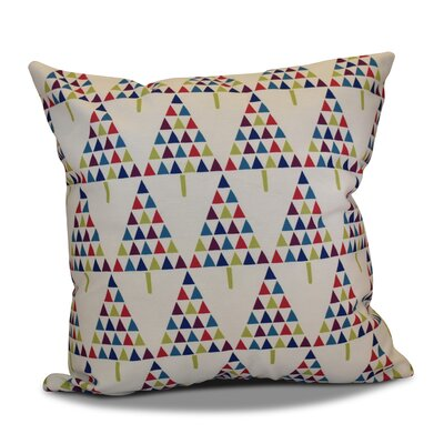 Decorative Holiday Outdoor Throw Pillow Size: 18 H x 18 W, Color: White