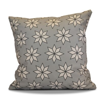 Christmas Decorative Holiday Indoor Geometric Print Throw Pillow Size: 18 H x 18 W, Color: Gray