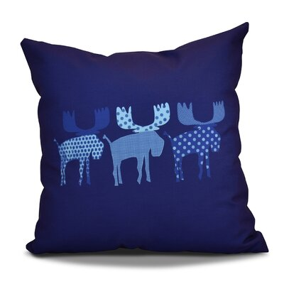 Christmas Decorative Holiday Animal Print Throw Pillow Size: 20 H x 20 W, Color: Blue