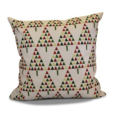 Decorative Holiday Outdoor Throw Pillow Size: 16 H x 16 W, Color: Cream