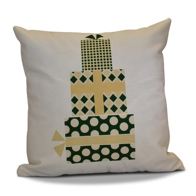 Christmas Decorative Holiday Geometric Print Square Throw Pillow Size: 20 H x 20 W, Color: Green/Yellow