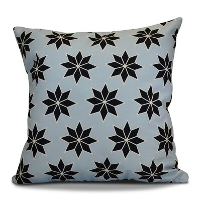 Christmas Decorative Holiday Geometric Print Outdoor Throw Pillow Color: Light Blue, Size: 18 H x 18 W