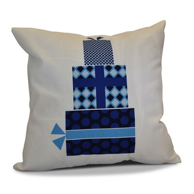 Christmas Decorative Holiday Geometric Print Square Throw Pillow Size: 18 H x 18 W, Color: Navy Blue