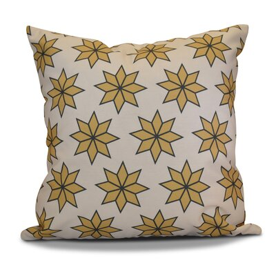 Christmas Decorative Holiday Geometric Print Outdoor Throw Pillow Size: 20 H x 20 W, Color: Gold