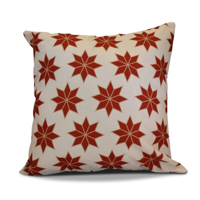 Christmas Decorative Holiday Geometric Print Outdoor Throw Pillow Size: 18 H x 18 W, Color: Red