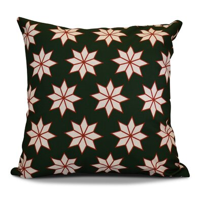 Christmas Decorative Holiday Indoor Geometric Print Throw Pillow Color: Dark Green, Size: 18 H x 18 W