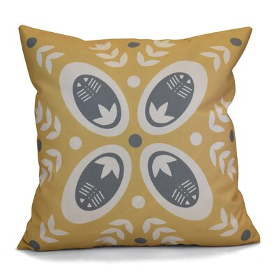 Mazee Decorative Holiday Geometric Print Throw Pillow Size: 18 H x 18 W, Color: Gold