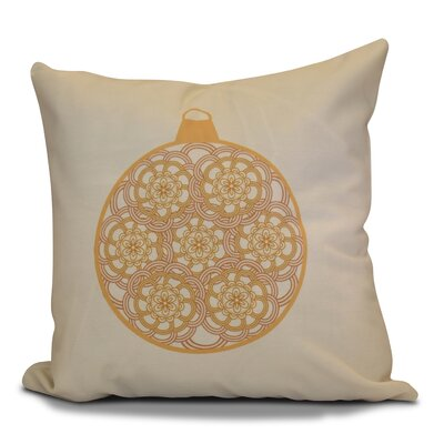 Christmas Decorative Holiday Geometric Print Throw Pillow Size: 26 H x 26 W, Color: Gold