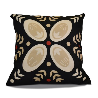 Mazee Decorative Holiday Geometric Print Throw Pillow Color: Black, Size: 20 H x 20 W