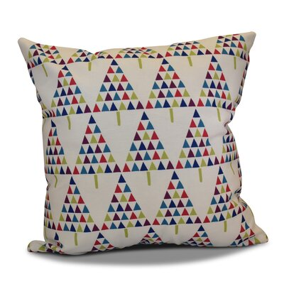 Christmas Triangle Trees Throw Pillow Color: White, Size: 26 H x 26 W