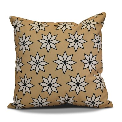 Christmas Decorative Holiday Indoor Geometric Print Throw Pillow Size: 16 H x 16 W, Color: Taupe