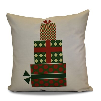 Christmas Decorative Holiday Geometric Print Square Throw Pillow Size: 26 H x 26 W, Color: Green