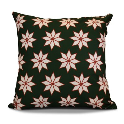 Decorative Holiday Geometric Print Outdoor Throw Pillow Size: 20 H x 20 W, Color: Dark Green