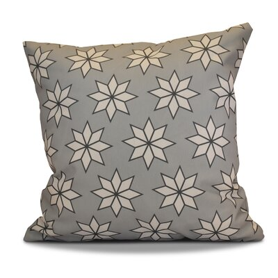 Decorative Holiday Geometric Print Outdoor Throw Pillow Size: 18 H x 18 W, Color: Gray