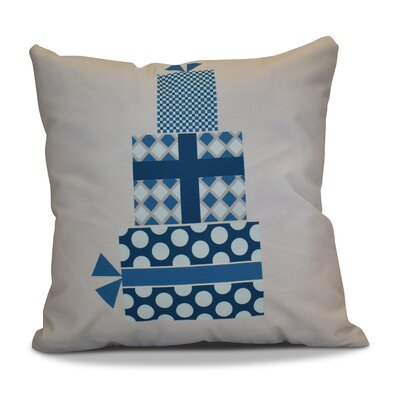Christmas Decorative Holiday Geometric Print Square Throw Pillow Size: 16 H x 16 W, Color: Teal