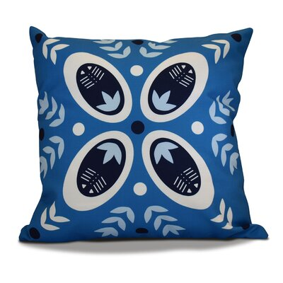 Mazee Decorative Holiday Geometric Print Throw Pillow Size: 26 H x 26 W, Color: Teal
