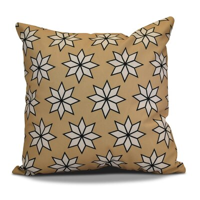 Decorative Holiday Geometric Print Outdoor Throw Pillow Size: 18 H x 18 W, Color: Taupe