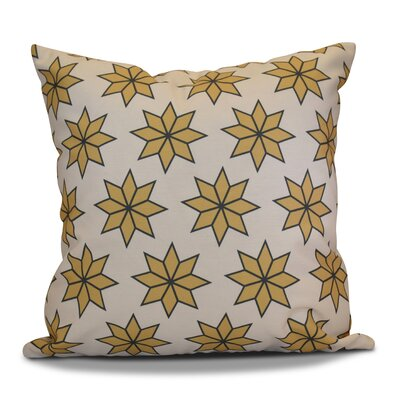 Decorative Holiday Geometric Print Throw Pillow Size: 18 H x 18 W, Color: Gold
