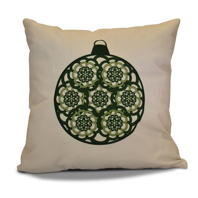 Christmas Decorative Holiday Geometric Print Throw Pillow Color: Dark Green, Size: 26 H x 26 W