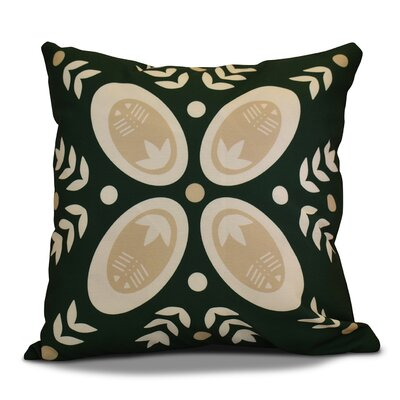 Mazee Decorative Holiday Geometric Print Outdoor Throw Pillow Size: 16 H x 16 W, Color: Dark Green