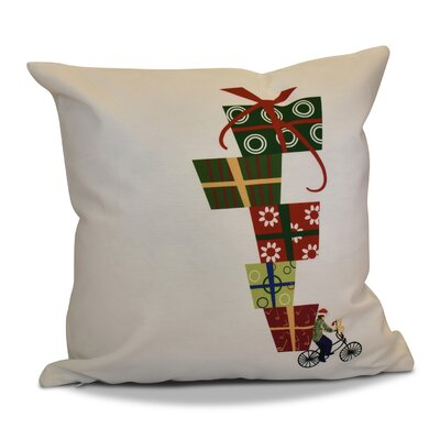 Christmas Presents Print Throw Pillow Size: 18 H x 18 W, Color: White