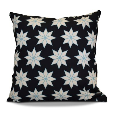 Christmas Decorative Holiday Indoor Geometric Print Throw Pillow Size: 18 H x 18 W, Color: Navy Blue