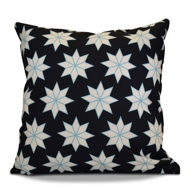 Decorative Holiday Geometric Print Outdoor Throw Pillow Color: Navy Blue, Size: 18 H x 18 W