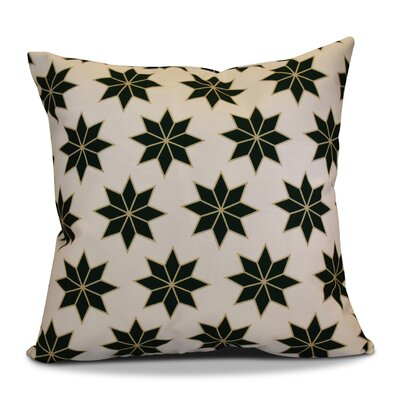 Christmas Decorative Holiday Geometric Print Outdoor Throw Pillow Size: 18 H x 18 W, Color: Dark Green
