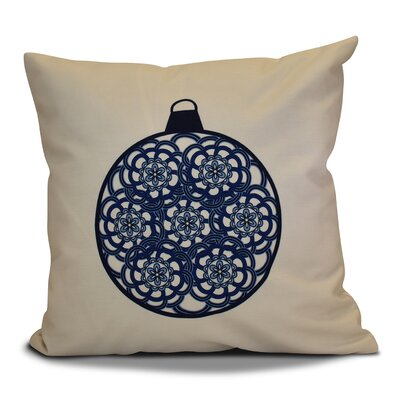 Christmas Decorative Holiday Geometric Print Throw Pillow Size: 20 H x 20 W, Color: Navy Blue
