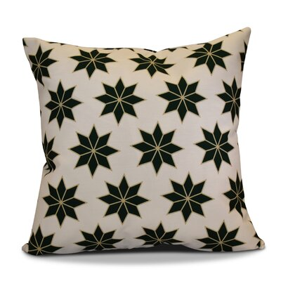 Decorative Holiday Indoor Geometric Print Throw Pillow Size: 16 H x 16 W, Color: Dark Green