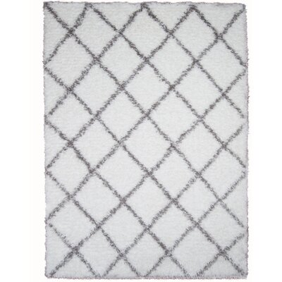 Abarca White Area Rug Rug Size: Rectangle 710 x 102