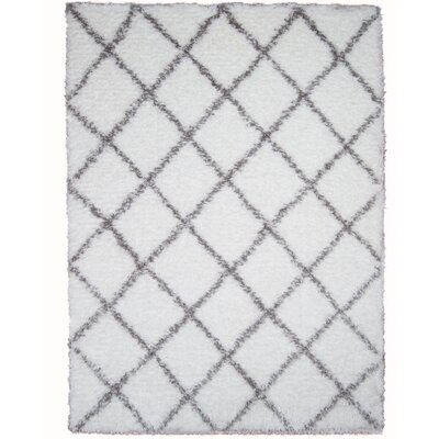 Abarca White Area Rug Rug Size: Rectangle 28 x 311