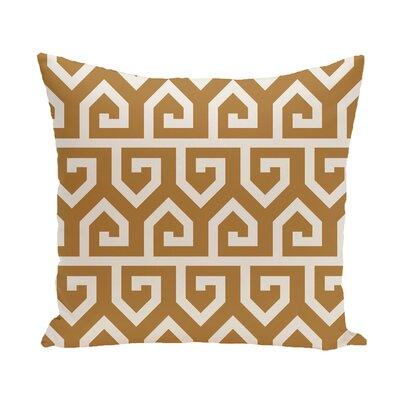 Nikanor Geometric Outdoor Throw Pillow Color: Green