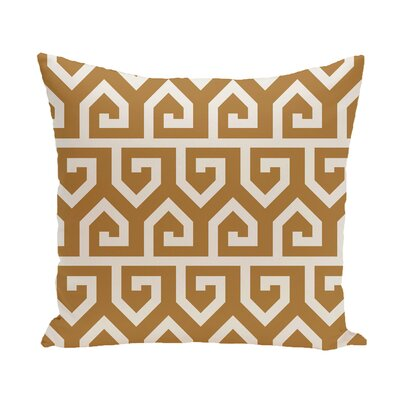 Nikanor Geometric Outdoor Throw Pillow Color: Gold