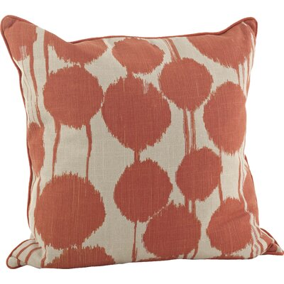 Agee 100% Cotton Throw Pillow Color: Tangerine