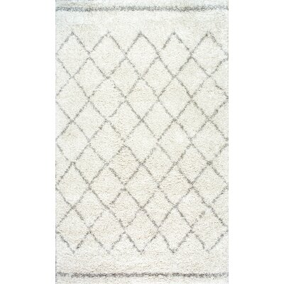 Manus Natural Ivory Area Rug Rug Size: Rectangle 6 x 9