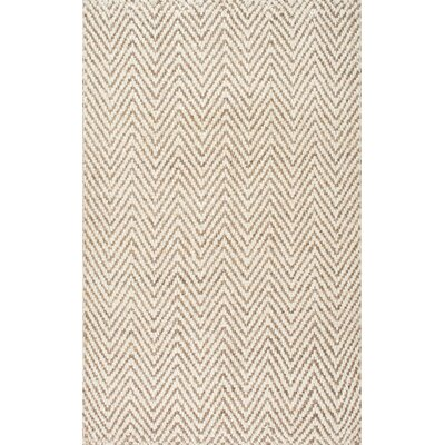 Norcross Hand-Woven Tan Area Rug Rug Size: 5 x 8