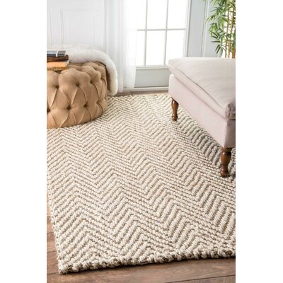 Norcross Hand-Woven Tan Area Rug Rug Size: Rectangle 4 x 6