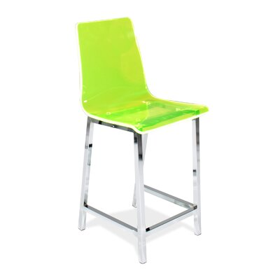 Sicily 24 inch Bar Stool (Set of 2) Upholstery: Green