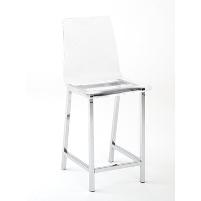 Sicily 24 inch Bar Stool (Set of 2) Upholstery: Acrylic