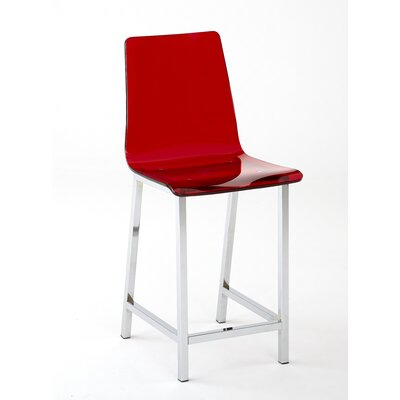 Sicily 24 Bar Stool (Set of 2) Upholstery: Red