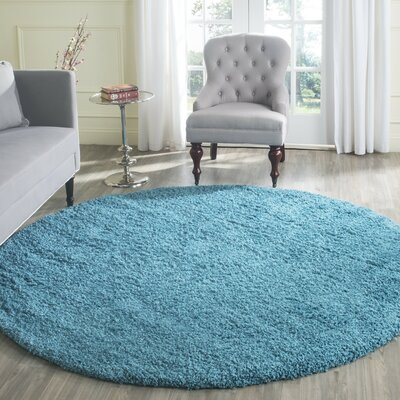 Acheson Turquoise Area Rug Rug Size: Round 67 x 67