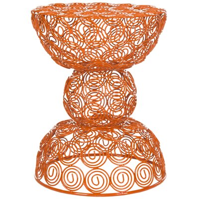 Vanbuskirk Iron Wire Accent Stool Finish: Orange