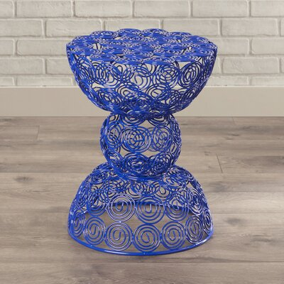 Vanbuskirk Iron Wire Accent Stool Finish: Dark Blue