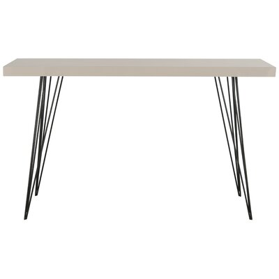 Arcuri Console Table Finish: Taupe/Black