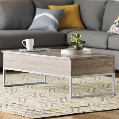 Pettis Coffee Table with Lift Top Color: Dark Sonoma