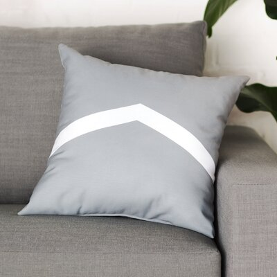 Down Throw Pillow Size: 16 H x 16 W, Color: Bisque / Lipstick